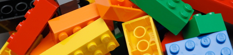 Colorful LEGO pieces